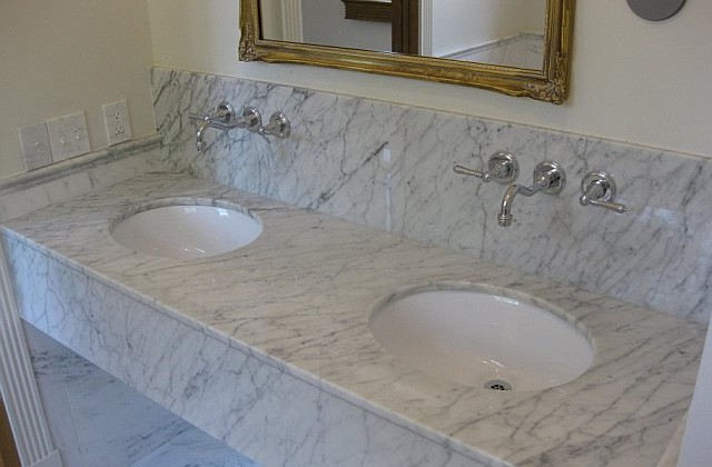 Kitchen counter tops many choices - How to clean marble bathroom vanity top ...