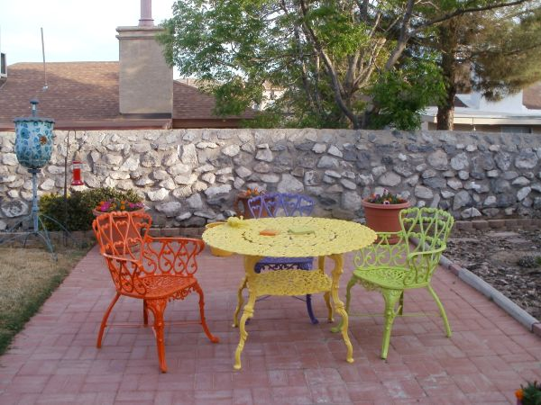 Superb Painting Furniture   Patio   Quinju.com