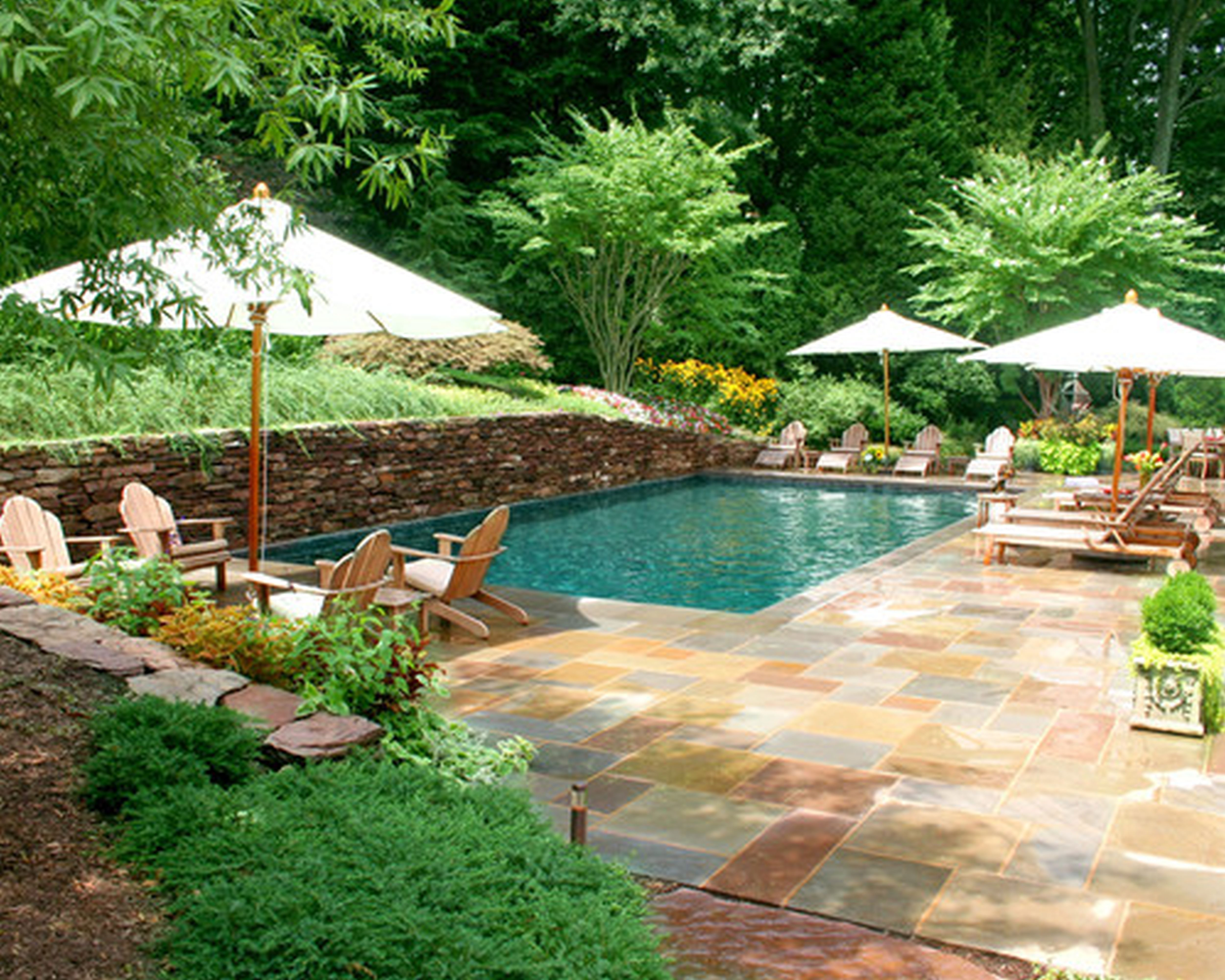 Designing your backyard swimming pool part i of ii Cheap pool landscaping ideas
