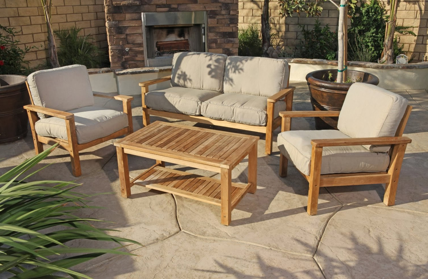 Teak Wood Furniture ~ Patio furniture all the comforts of indoor living