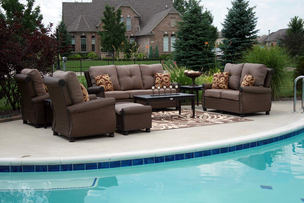 Patio furniture all the comforts of indoor living Synthetic wood patio furniture