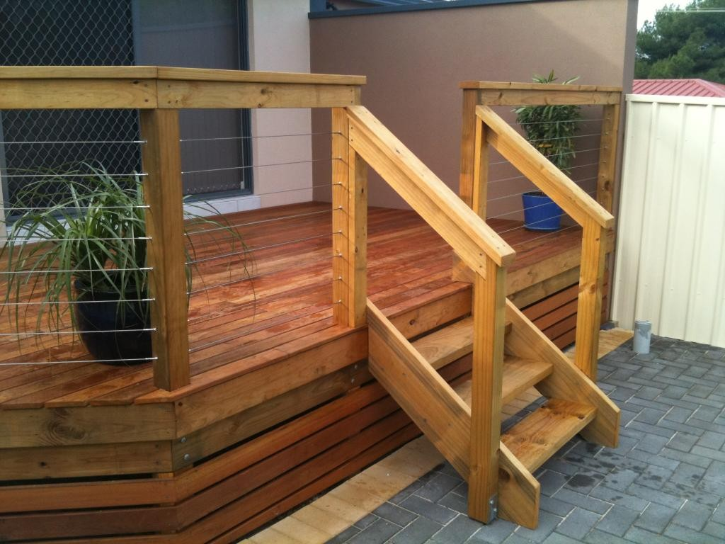 Build Wood Deck Stairs And Landing: Outdoor Deck Stairs To Finish Your Project