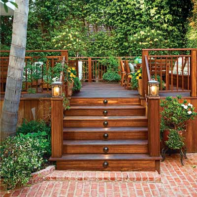 Outdoor deck stairs to finish your project - quinju.com on Backyard Patio Steps id=24983